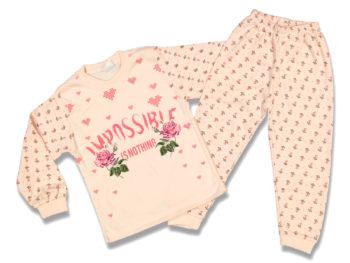 Пижама детская 4-5-6 лет персикового цвета 69802